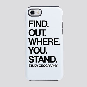 Study Geography iPhone 7 Tough Case