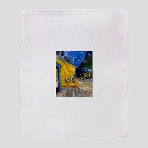 Cafe Terrace at Night Throw Blanket