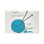 I knit Rectangle Magnet