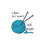 I knit 38.5 x 24.5 Wall Peel