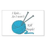 I knit Sticker (Rectangle 10 pk)