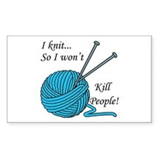 I knit Sticker (Rectangle)