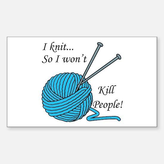 I knit Sticker (Rectangle)