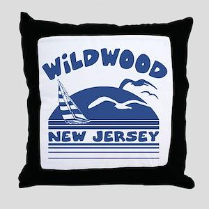 Wildwood New Jersey Throw Pillow