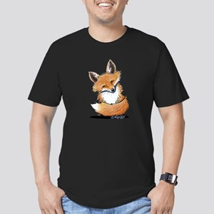 KiniArt Fox Men's Fitted T-Shirt (dark)