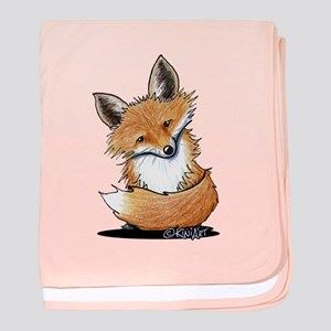 KiniArt Fox baby blanket