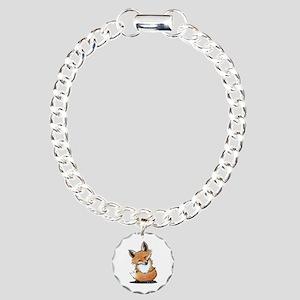 KiniArt Fox Charm Bracelet, One Charm