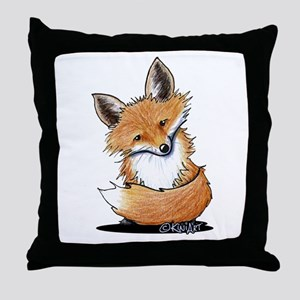 KiniArt Fox Throw Pillow