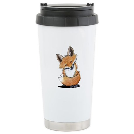KiniArt Fox Stainless Steel Travel Mug