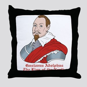 Gustavus Adolphus Throw Pillow