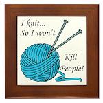 I knit Framed Tile