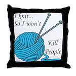 I knit Throw Pillow