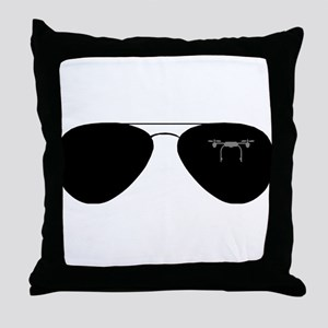 Drone pilot glasses Throw Pillow