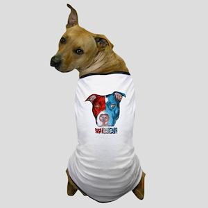 Dog Face! Red, White & Blue Dog T-Shirt