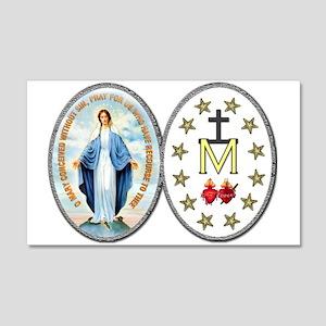 Miraculous Medal 22x14 Wall Peel