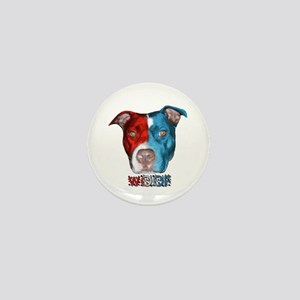 Dog Face! Red, White & Blue Mini Button