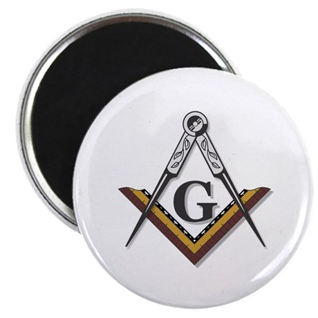 """Square and Compass 2.25"""" Magnet (10 pack)"""