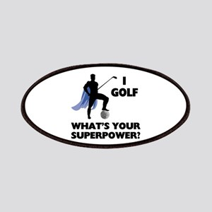 Golf Superhero Patches
