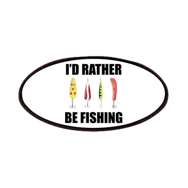 I 39 d rather be fishing patches by sportsnuts for Rather be fishing