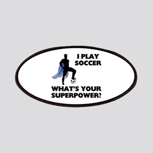 Soccer Superhero Patches