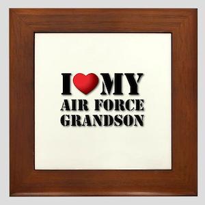 Air Force Grandson Framed Tile