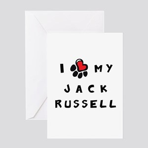 I *heart* My Jack Russell Greeting Card