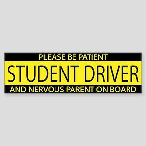 Student Driver Yellow Bumper Sticker