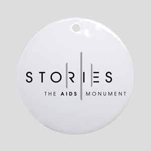 Stories: The Aids Monument Round Ornament