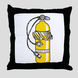 Dive Dive Dive Throw Pillow