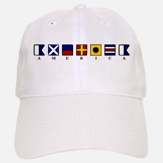 Nautical America Baseball Baseball Cap