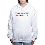 Joshua 1:3 Woman's Hooded Sweatshirt