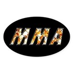 MMA Sticker (Oval)