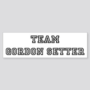 Team Gordon Setter Bumper Sticker
