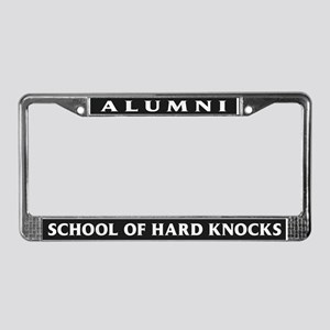 Alumni, School of Hard Knocks License Plate Frame