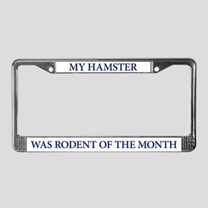 My Hamster was Rodent of the Month Plate Frame