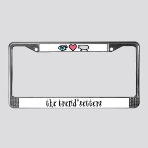 Eye Heart Ewe License Plate Frame