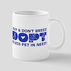 Blue Adopt Mug