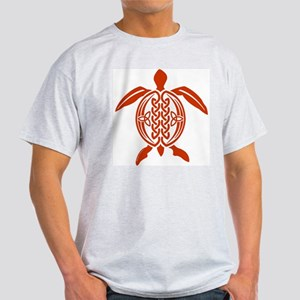 Copper Celtic Turtle Ash Grey T-Shirt