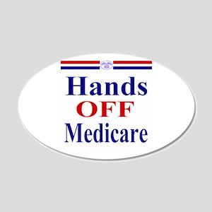 Hands OFF Medicare 22x14 Oval Wall Peel