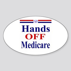 Hands OFF Medicare Sticker (Oval)