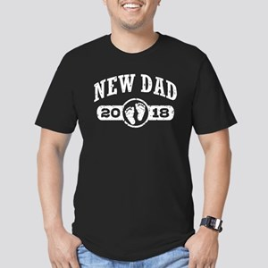 New Dad 2018 Men's Fitted T-Shirt (dark)