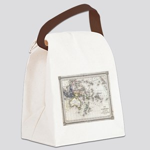 Vintage Map of Oceania (1852) Canvas Lunch Bag