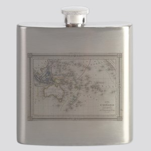 Vintage Map of Oceania (1852) Flask