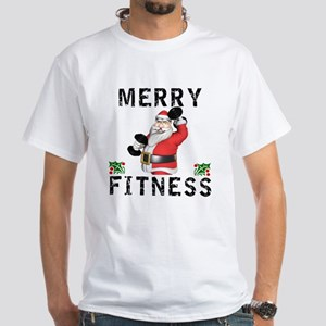 Merry Fitness Santa T-Shirt