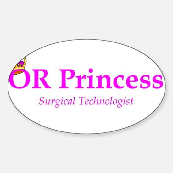 OR Princess ST Rectangle Decal