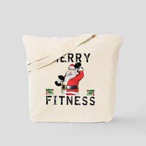 Merry Fitness Santa Tote Bag