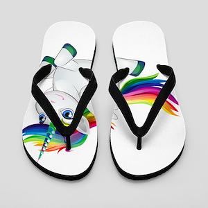 Cute_Rainbow_Pony__Clip_Art_Image.pn Flip Flops
