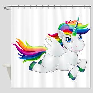 Cute_Rainbow_Pony__Clip_Art_Imag Shower Curtain