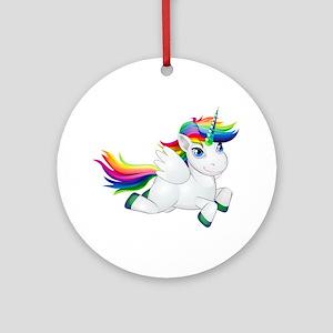 Cute_Rainbow_Pony__Clip_Art_Imag Round Ornament
