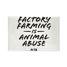Factory Farming Rectangle Magnet